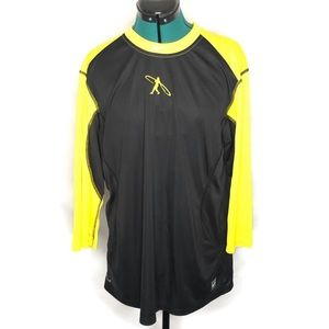 Nike Pro Combat Men's Dri-Fit Fitted Yellow Shirt